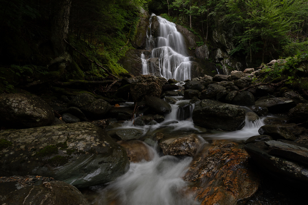 Summertime cascades within the Green Mountains of Vermont.