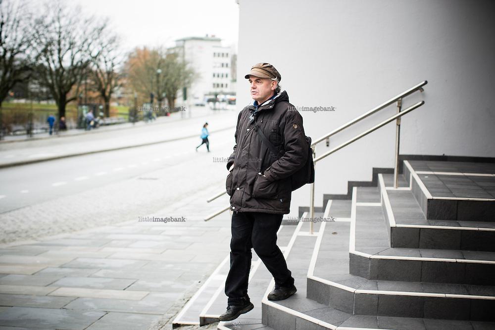 Stavanger, Norge, 18.03.2014. Forfatter Arild Rein fotografert i Stavanger. Foto: Christopher Olssøn.