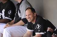 GLENDALE, AZ - MARCH 01:  Omar Vizquel #11 of the Chicago White Sox looks on prior to the game against the Milwaukee Brewers on March 01, 2011 at The Ballpark at Camelback Ranch in Glendale, Arizona. The Brewers defeated the White Sox 3-1.  (Photo by Ron Vesely)