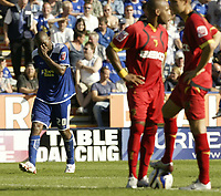 Photo: Aidan Ellis.<br /> Leicester City v Watford. Coca Cola Championship. 25/08/2007.<br /> Leicester's  Mark De Viers is in tears after scoring the fourth