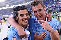 Sergio Floccari e Miroslav Klose Lazio.26/05/2013 Roma.Stadio Olimpico.Football Calcio 2012 / 2013 .Tim Cup Finali di Coppa Italia.Roma vs Lazio.Foto Insidefoto / Antonietta Baldassarre.