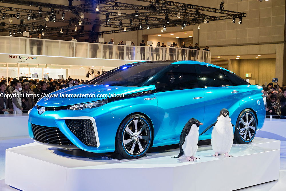 Toyota FCV concept hydrogen fuel cell car on display at Tokyo Motor Show 2013 in Japan