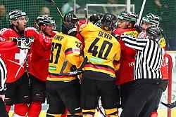 14.11.2010, Olympiahalle, Muenchen, GER, Deutschland Cup , Deutschland vs Schweiz , im Bild Schlaegerei , EXPA Pictures © 2010, PhotoCredit: EXPA/ nph/  Straubmeier+++++ ATTENTION - OUT OF GER +++++