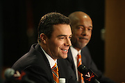 The press conference for the University of Virginia new head basketball coach Tony Bennett April 1, 2009 in Charlottesville, VA. Photo/Andrew Shurtleff