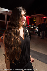 Vanessa Nay at the Indian new bike reveal party at the Hilton Hotel during Daytona Bike Week. Daytona Beach, FL, USA. Friday March 10, 2017. Photography ©2017 Michael Lichter.