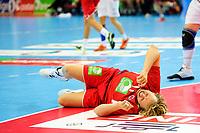 Håndball , Golden Leauge , Landskamp , Menn<br /> Tirsdag 5. November , 20151105<br /> Norge - Island<br /> Erlend Mamelund nede for telling mot slutten av kampen<br /> Foto: Sjur Stølen / Digitalsport