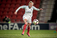 Toni Duggan (England) about to take a shot during the International Friendly match between England Women and France Women at the Keepmoat Stadium, Doncaster, England on 21 October 2016. Photo by Mark P Doherty.