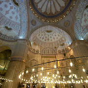 Inside view of Sultanahmet mosque