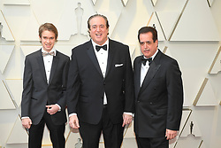 February 24, 2019 - Los Angeles, California, U.S - FRANK VALLELONGA JR, NICK VALLELONGA AND FRANK VALLELONGA during red carpet arrivals for the 91st Academy Awards, presented by the Academy of Motion Picture Arts and Sciences (AMPAS), at the Dolby Theatre in Hollywood. (Credit Image: © Kevin Sullivan via ZUMA Wire)