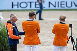Team Netherlands, Greve Willem, Ehrens Rob, Houtzeager Mark<br /> CHIO Rotterdam 2021<br /> © Dirk Caremans<br />  02/07/2021