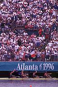 1996 Olympics Games - Atlanta – Georgia – USA, Australian Oarsome Foursome. AUS M4-  Stroke [left] Mike McKay – 3 Nick Green -  2 James Tomkins  -  Bow  Drew Ginn