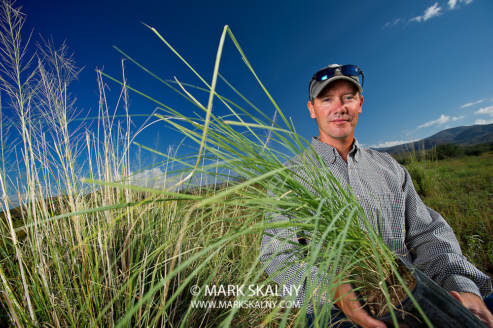 While on assignment in Eastern Arizona in the small town of Klondyke, I had the opportunity to meet and photograph  Mark  Haberstich, the Preserve Manager for the Nature Conservancy's Aravaipa Canyon Preserve as he shared with me the important native grassland restoration work they are conducting around the area.<br /> Corporate Photography by Mark Skalny