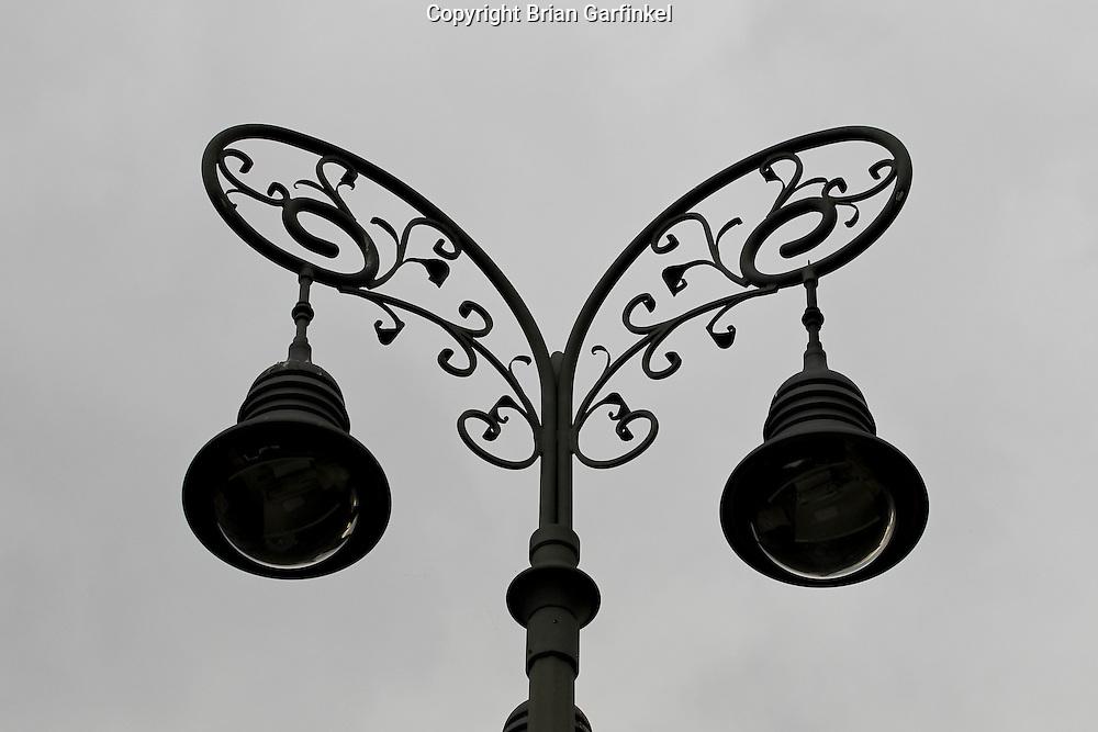 Street lights n Banka Bytrica, Slovakia on Wednesday July 6th 2011.  (Photo by Brian Garfinkel)