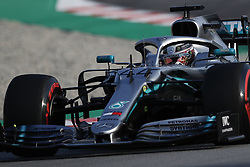 March 1, 2019 - Barcelona, Catalonia, Spain - March 1st, 2019 - Circuit de Barcelona-Catalunya, Montmelo, Spain - Formula One preseason 2019; Lewis Hamilton of Mercedes AMG Petronas Formula One Team during the afternoon session of the day 8. (Credit Image: © Marc Dominguez/ZUMA Wire)