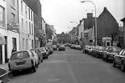 New Street Killarney in the 1980's.<br /> Photo: macmonagle.com archive<br /> <br /> Killarney Now & Then - MacMONAGLE photo archives.<br /> Facebook - @killarneynowandthen