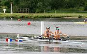 Henley Royal Regatta, Henley on Thames, Oxfordshire, 28 June - 2 July 2017.  Saturday  10:23:19   01/07/2017  [Mandatory Credit/Intersport Images]<br /> <br /> Rowing, Henley Reach, Henley Royal Regatta.<br /> <br /> The Women's Double Sculls<br />  C.B. Bove & L.T. Tarantola (Club France, France)