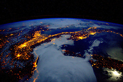 January 25, 2016 - Earth Atmosphere - Earth observation taken during a night pass by the Expedition 46 crew aboard the International Space Station (ISS). Astronaut Scott Kelly posted this photo on Twitter with the caption, Italy and the Alps last night were breathtaking! YearInSpace (Credit Image: ? Scott Kelly/NASA via ZUMA Wire/ZUMAPRESS.com)