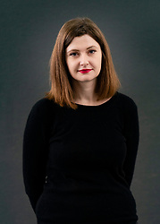 Edinburgh, Scotland, UK. 22 August 2019. Olga Grjasnowa at Edinburgh International Book Festival 2019. Azeri author Olga Grjasnowa moved to Germany in 1996 as a refugee and is married to a Syrian actor. Her novel, City of Jasmine offers an intimate picture of the inhumanity of war as three Damascenes flee. Iain Masterton/Alamy Live News.