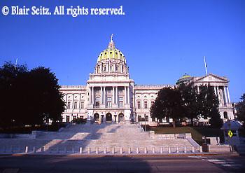 PA Capitol, Harrisburg, PA, Architect Joseph Huston, 3rd St. Steps