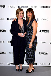 Amy Poehler (left) receives the Inspiration Award from Rashida Jones (right) in the press room at the Glamour Women of the Year Awards 2017, Berkeley Square Gardens, London.