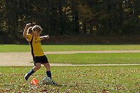 Jessica Laman playing soccer in the fall.