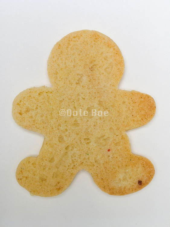 cookie in the form of a human walking