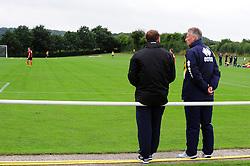 Bristol Rovers Manager, John Ward (right) watches Bristol Rovers U18s play Bournemouth U18s  - Photo mandatory by-line: Dougie Allward/JMP - Tel: Mobile: 07966 386802 17/08/2013 - SPORT - FOOTBALL - Bristol Rovers Training Ground - Friends Life Sports Ground - Bristol - Academy - Under 18s - Youth - Bristol Rovers U18s V Bournemouth U18s