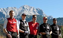 04.10.2010, Biathlon Zentrum, Hochfilzen, AUT, OESV Biathlon Medientag, im Bild Grippenbild der ÖSV Biathleten vl. nr. Simon Eder, OESV, Biathlet, Dominik Landertinger, OESV, Biathlet, Friedrich Pinter, OESV, Biathlet, Christoph Sumann, OESV, Biathlet, Daniel Mesotitsch, OESV, Biathlet, EXPA Pictures © 2010, PhotoCredit: EXPA/ J. Feichter
