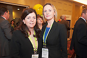 20/11/2014  repro free   Patricia McCrossan MD Golden Egg Productions and Adrienne O'Flynn Radisson Blu,  at the Galway Bay Hotel for the two day conference Meet West attracting over 400 business people from around Ireland for the largest networking event in the Country . Photo:Andrew Downes