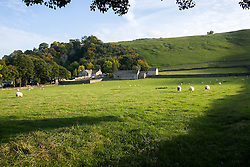 Looking towards Goose Hill Hall with Pevril Castle on the Hill from Arthurs  Road Castleton <br />  11 October 2015<br />  Image © Paul David Drabble <br />  www.pauldaviddrabble.co.uk