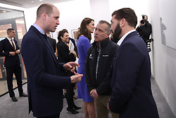 The Duke and Duchess of Cambridge meet panelists and beneficiaries as they attend the first Royal Foundation Forum in central London.