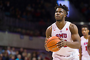 DALLAS, TX - JANUARY 04:  Semi Ojeleye #33 of the SMU Mustangs shoots a free-throw against the Temple Owls during a basketball game on January 4, 2017 at Moody Coliseum in Dallas, Texas.  (Photo by Cooper Neill/Getty Images) *** Local Caption *** Semi Ojeleye