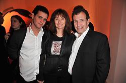 POJU ZABLUDOWICZ and ANITA ZABLUDOWICZ and their son ROY ZABLUDOWICZ at the TOD'S Art Plus Drama Party at the Whitechapel Gallery, London on 24th March 2011.