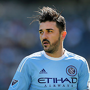 NEW YORK, NEW YORK - May 29:  David Villa #7 of New York City FC during the New York City FC Vs Orlando City, MSL regular season football match at Yankee Stadium, The Bronx, May 29, 2016 in New York City. (Photo by Tim Clayton/Corbis via Getty Images)