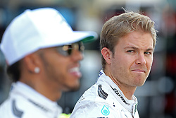 Nico Rosberg (GER) Mercedes AMG F1  and Lewis Hamilton (GBR) Mercedes AMG F1  <br /> 27.11.2016. Formula 1 World Championship, Rd 21, Abu Dhabi Grand Prix, Yas Marina Circuit, Abu Dhabi, Race Day.<br /> Copyright: Charniaux / XPB Images / action press