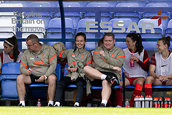 BIRKENHEAD, ENGLAND - Sunday, August 29, 2021: Liverpool's manager Matt Beard during the FA Women's Championship game between Liverpool FC Women and London City Lionesses FC at Prenton Park. London City won 1-0. (Pic by Paul Currie/Propaganda)