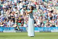 Soprano Laura Wright before the third day of the 5th Investec Ashes Test match between England and Australia at The Oval, London, United Kingdom on 22 August 2015. Photo by Ellie Hoad.