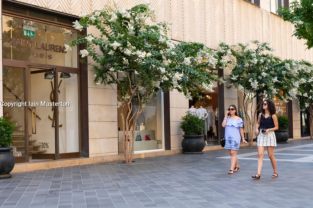 Luxury fashion boutiques on fashionable street in Downtown Beirut, Lebanon