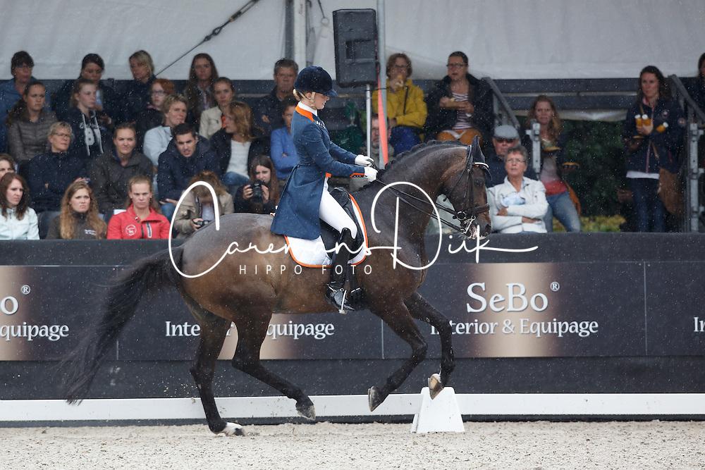 Nekeman Jeanine, (NED), Vlingh STH<br /> Young Rider Kür Final<br /> Dutch Championship Dressage - Ermelo 2015<br /> © Hippo Foto - Dirk Caremans<br /> 19/07/15