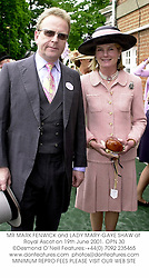 MR MARK FENWICK and LADY MARY-GAYE SHAW at Royal Ascot on 19th June 2001. OPN 30