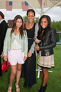 EVA RAMIREZ; ALICE CASELY-HAYFORD; LOTTIE-DAISY FRANCES; Charlie Gilkes and Duncan Stirling host Inception Group's Hamptons Garden party on the rooftop garden of the Ballymore marketing suite overlooking the site of the new US embassy. Embassy Gardens, London SW8.  12 July 2012.