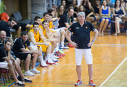Ales Pipan, head coach of Slovenia during friendly match between National teams of Slovenia and Republic of Macedonia for Eurobasket 2013 on July 28, 2013 in Litija, Slovenia. (Photo by Vid Ponikvar / Sportida.com)