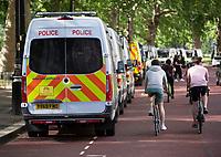 Police vans london photo by Brian Jordan