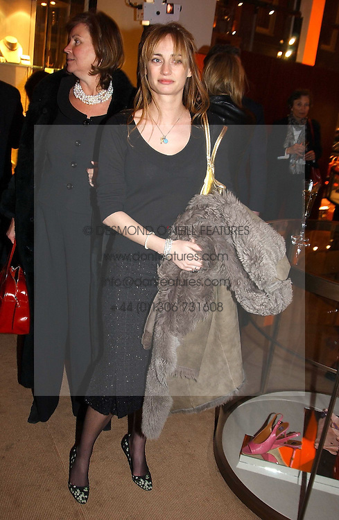 CLEMENTINE HAMBRO at a party to celebrate the 2nd anniversary of Quintessentially magazine held at Asprey, Bond Street, London on 24th February 2005.<br /><br />NON EXCLUSIVE - WORLD RIGHTS