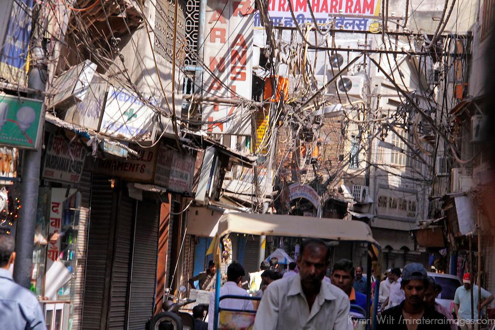Asia, India, New Delhi. Chandni Chowk by rickshaw.