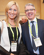 20/11/2014  repro free  Michelle Murphy Collins McNicholas and Jarlaith Jordan The Homebutler ltd at the Galway Bay Hotel for the two day conference Meet West attracting over 400 business people from around Ireland for the largest networking event in the Country . Photo:Andrew Downes