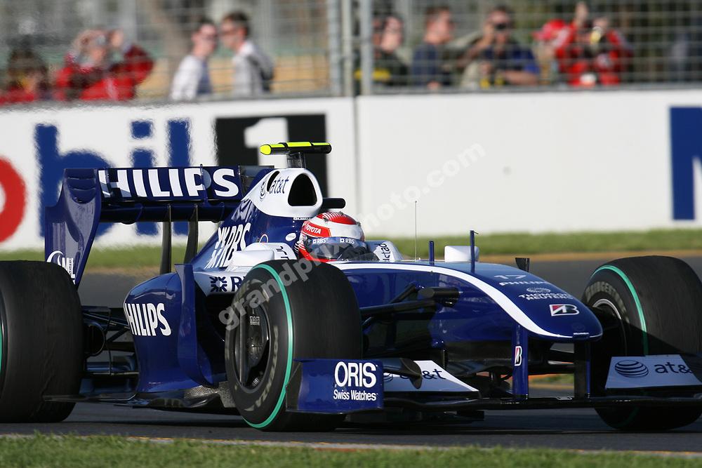Kazuki Nakajima (Williams-Toyota) during practice for the 2009 Australian Grand Prix in Albert Park, Melbourne. Photo: Grand Prix Photo
