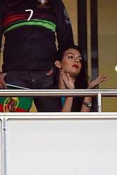 October 10, 2017 - Lisbon, Portugal - Portugal's forward Cristiano Ronaldo girlfriend Georgina Rodriguez attends the 2018 FIFA World Cup qualifying football match between Portugal and Switzerland at the Luz stadium in Lisbon, Portugal on October 10, 2017. Photo: Pedro Fiuza  (Credit Image: © Pedro Fiuza/NurPhoto via ZUMA Press)