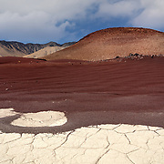 Cinder Cone And Dried Pond - Fossil Falls, CA
