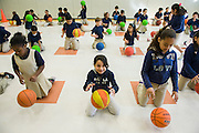 Students in PE at Walnut Bend Elementary school, February 6, 2013.